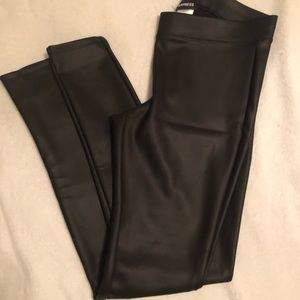 Express brand leather leggings